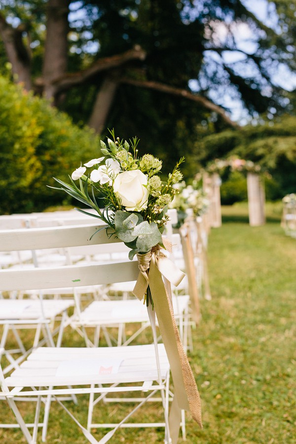elegant outdoor ceremony details