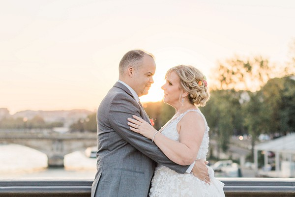 golden hour Paris wedding