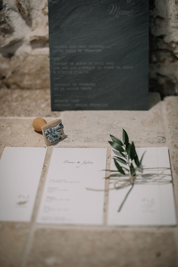 organic wedding stationary