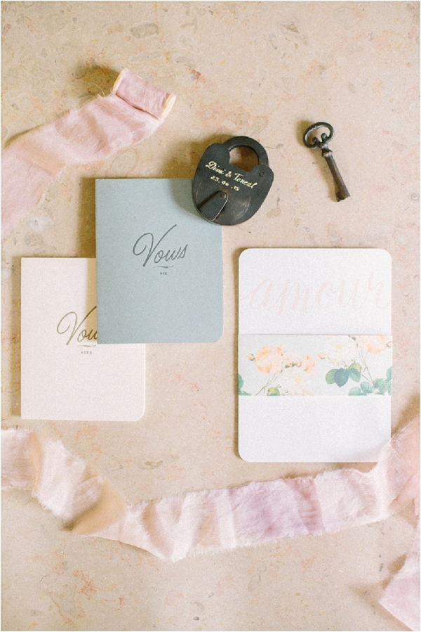 romantic destination wedding stationery | Image by Maya Maréchal Photography