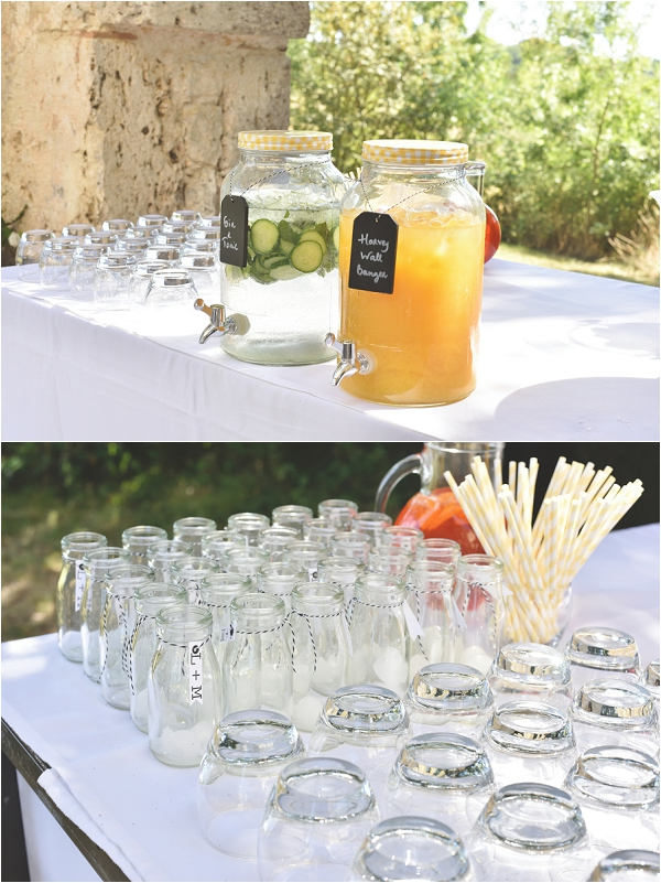 rustic summer wedding drinks ideas