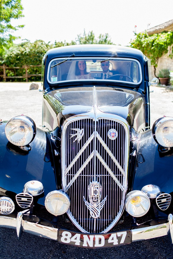 vintage Citroen wedding car
