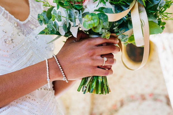 wedding day pearl braclet