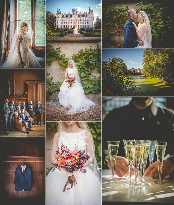 Black Tie Chateau Challain Real Wedding Snapshot