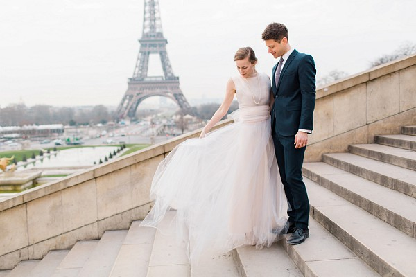 Black tie Paris real wedding