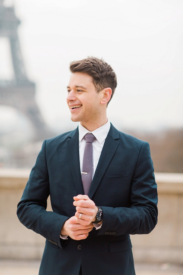 Paris groom portrait