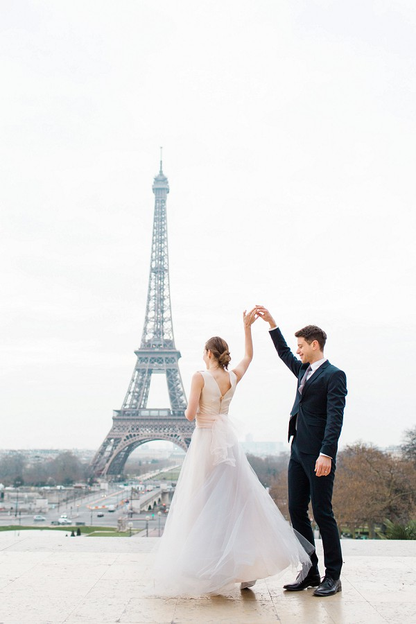 Romantic Eiffel Tower Anniversary Shoot