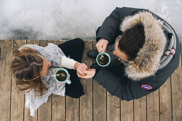 magical winter engagement