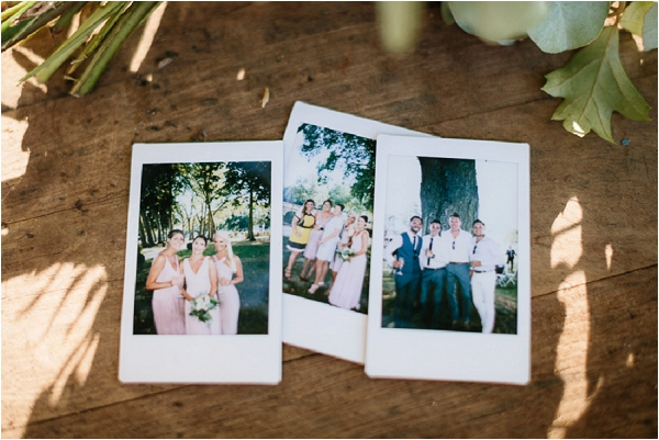wedding day polaroids | Image by Ian Holmes Photography