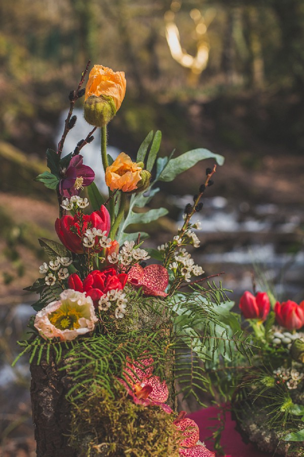 winter inspired florals wedding