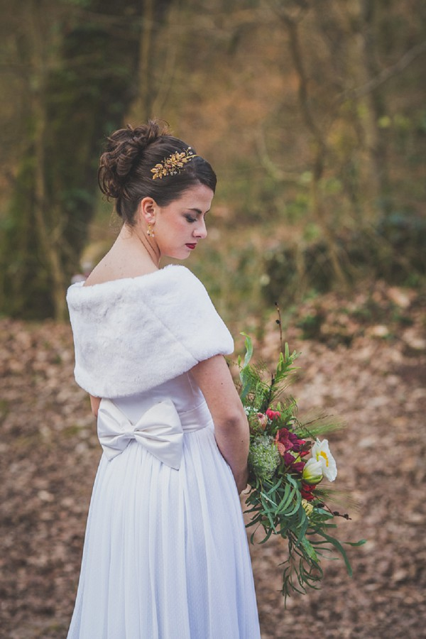 winter wedding dress wrap