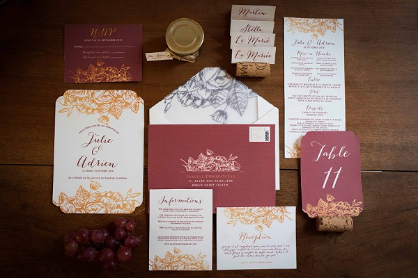 A Rich Autumn Inspired Invite Suite