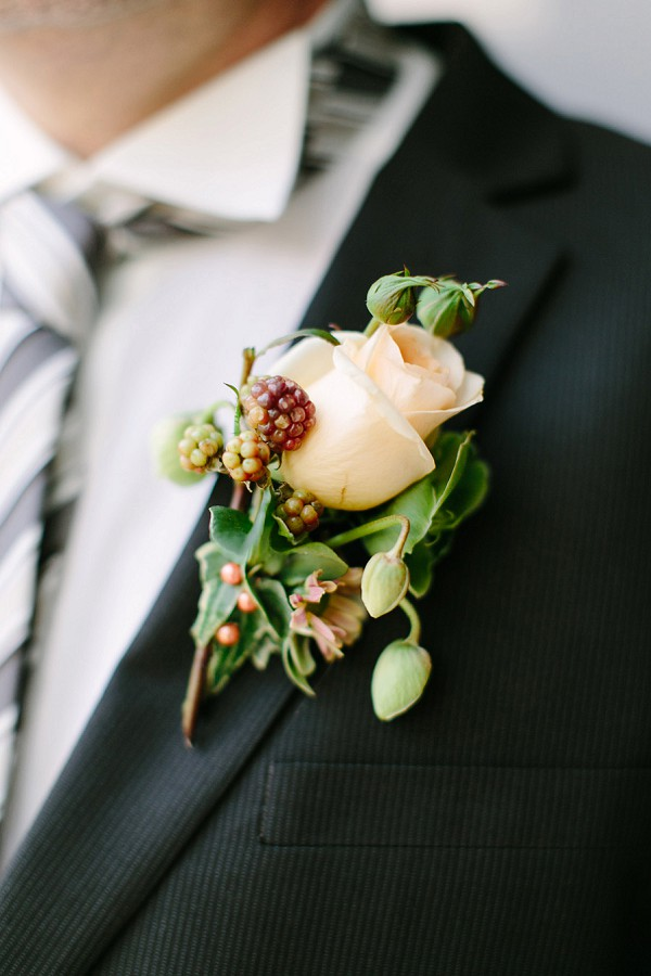 Autumn inspired wedding buttonhole