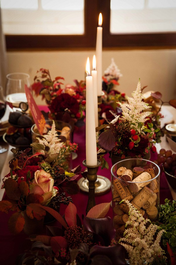 Candle Lit Autumn Wedding