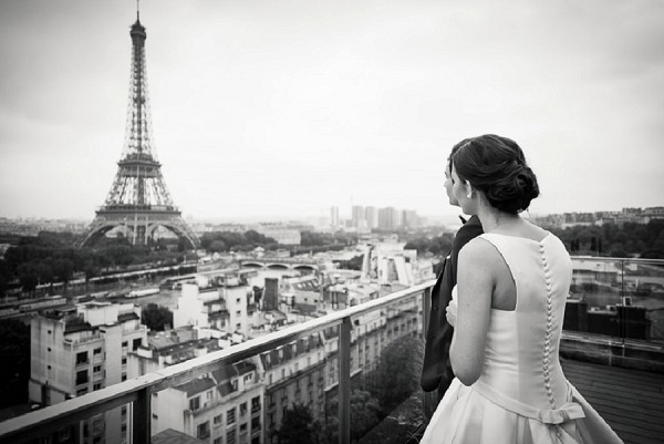 view of paris wedding
