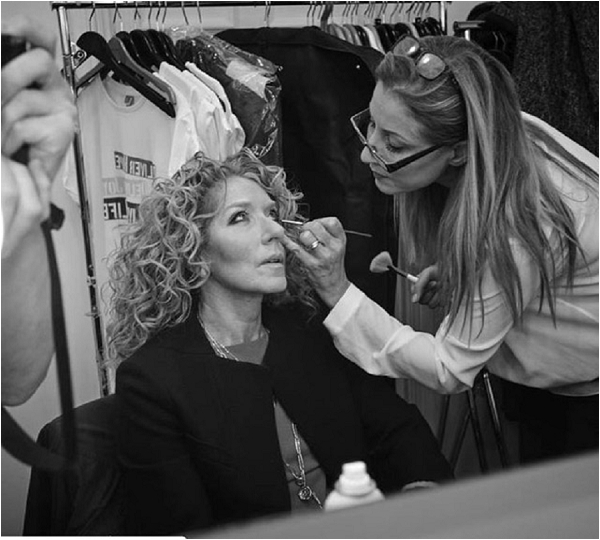 Kelly Hoppen make up, celebrity make up artist Mel Kinsman, image by Charlie Gray
