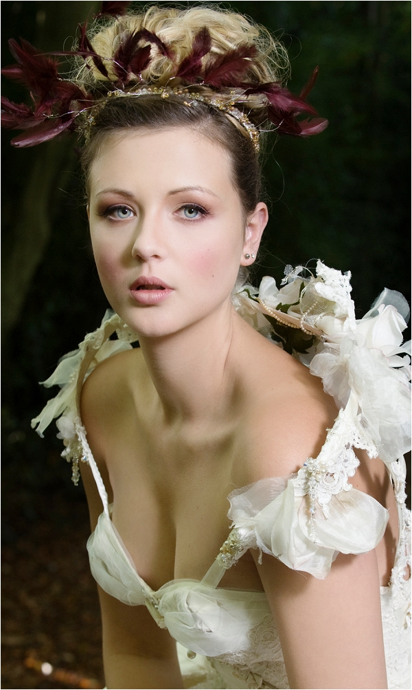 theatrical bridal make up, by Make up Artist Mel Kinsman, image by Carey Sheffield