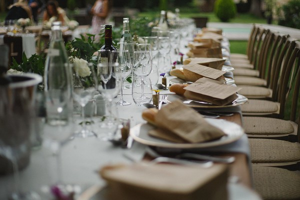 Rustic outdoor french reception
