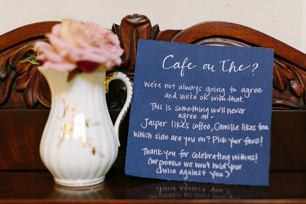 Tea and Coffee Wedding Reception