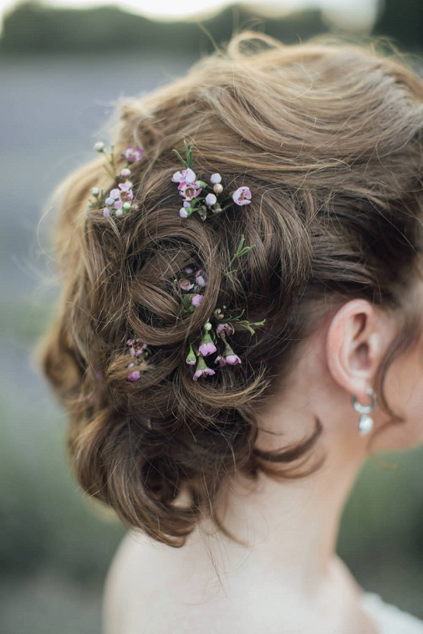 delicate flowers updo