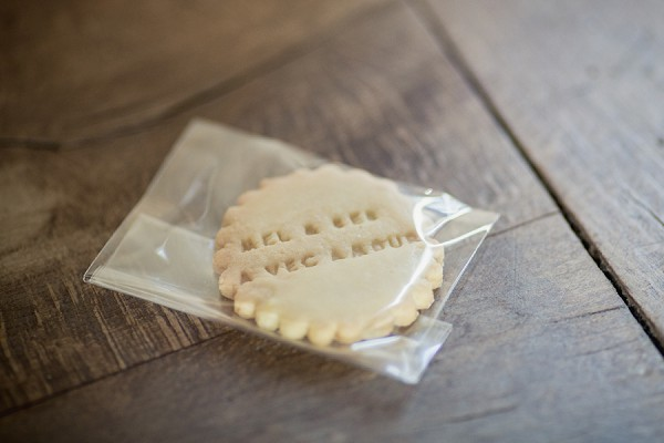 homemade cookie wedding favour