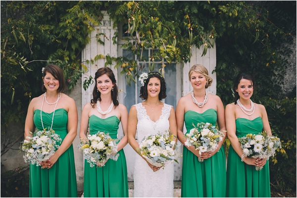 Asos green bridesmaid dresses, image by Blondie Photography