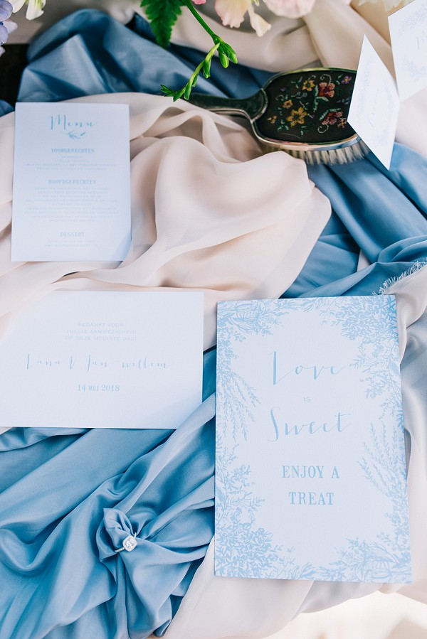 Blue wedding stationary
