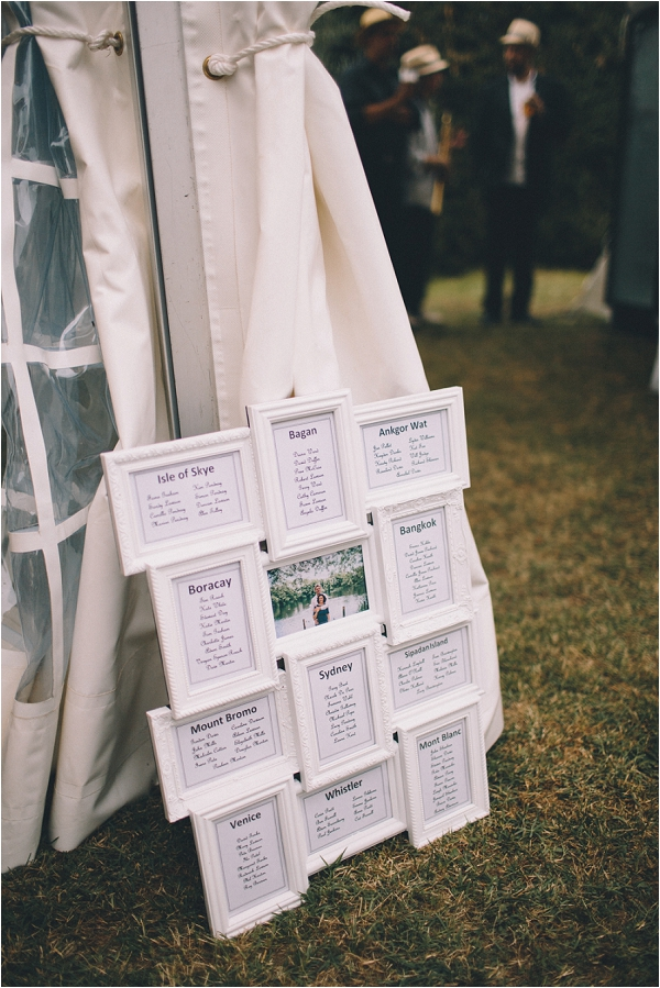 DIY wedding seating plan, image by Blondie Photography