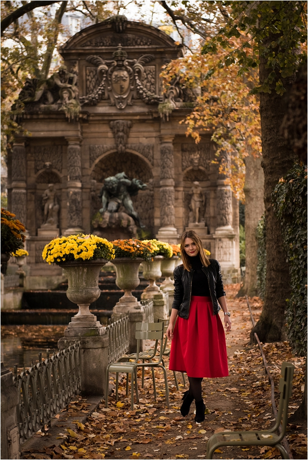 Engagement Photoshoot At Jardin Du Luxembourg French Wedding Style
