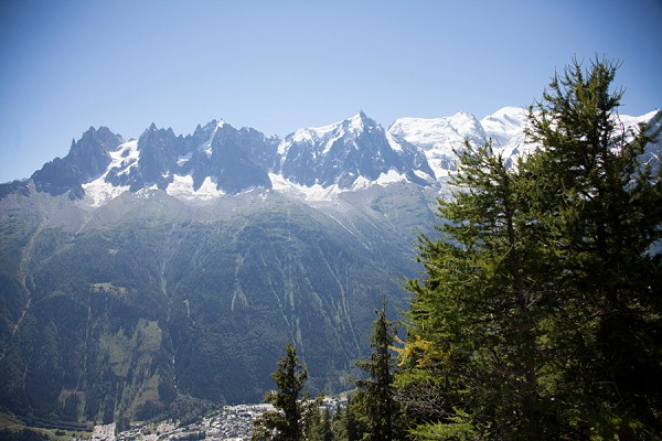 Summer Mountain Top Chamonix Wedding