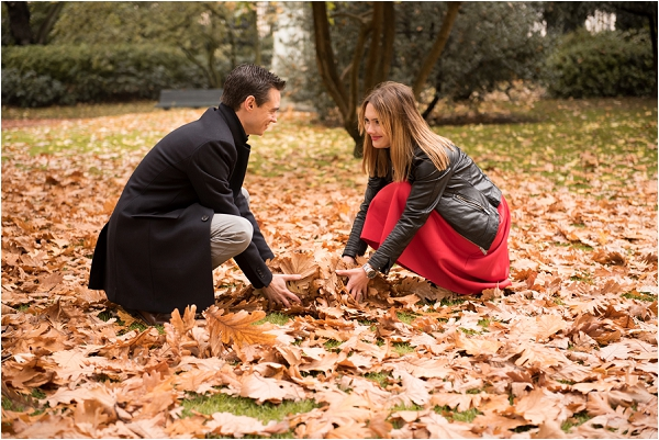 fall engagement in Paris | Image by Shantha Delaunay