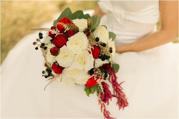 festive wedding flowers BRIDE GROOM, image by Gael Sacre