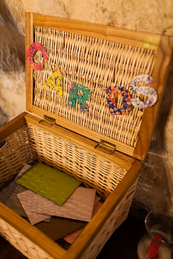 rustic card wedding hamper