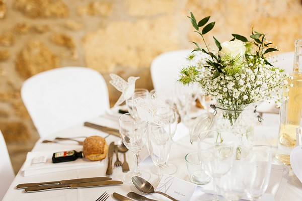rustic white wedding table decor