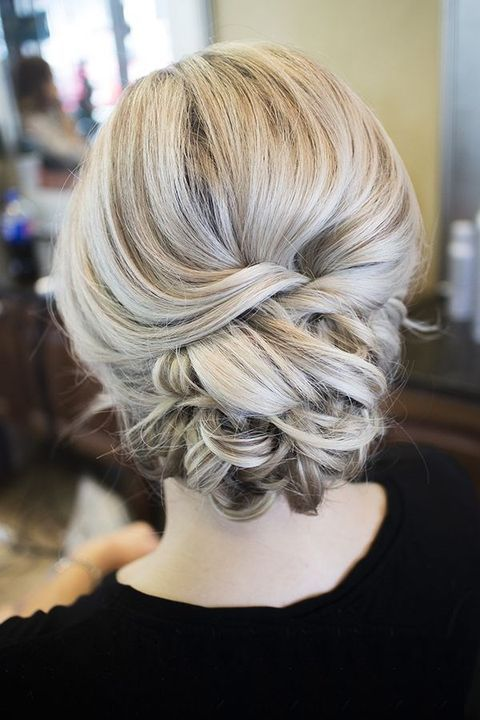 twisted chignon type braids