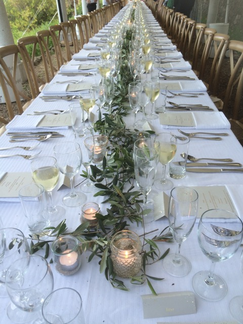 wedding catering and table hire South of France, created by Chef à domicile