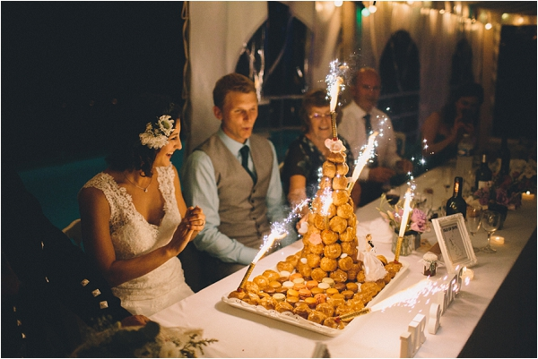wedding croquembouche, image by Blondie Photography
