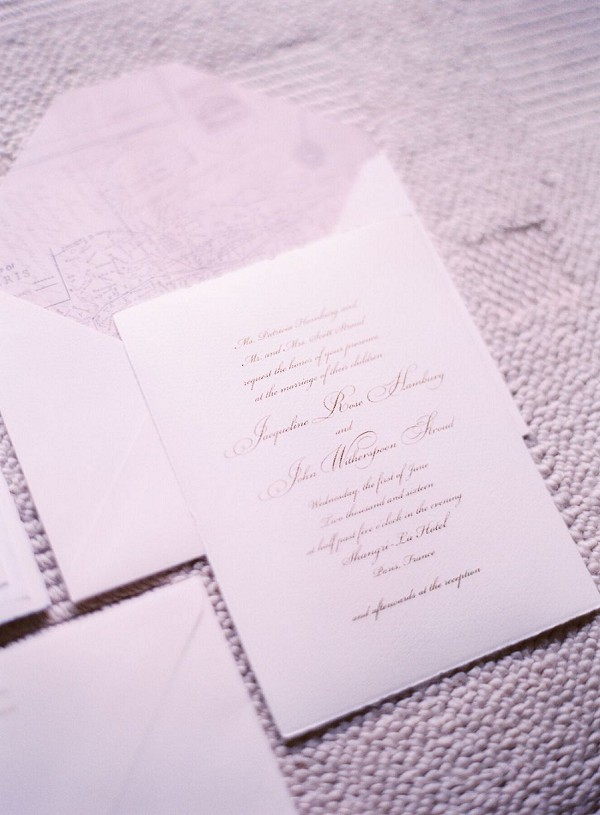 Elegant wedding stationary