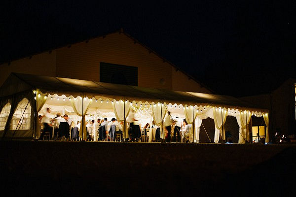Garden party marquee wedding