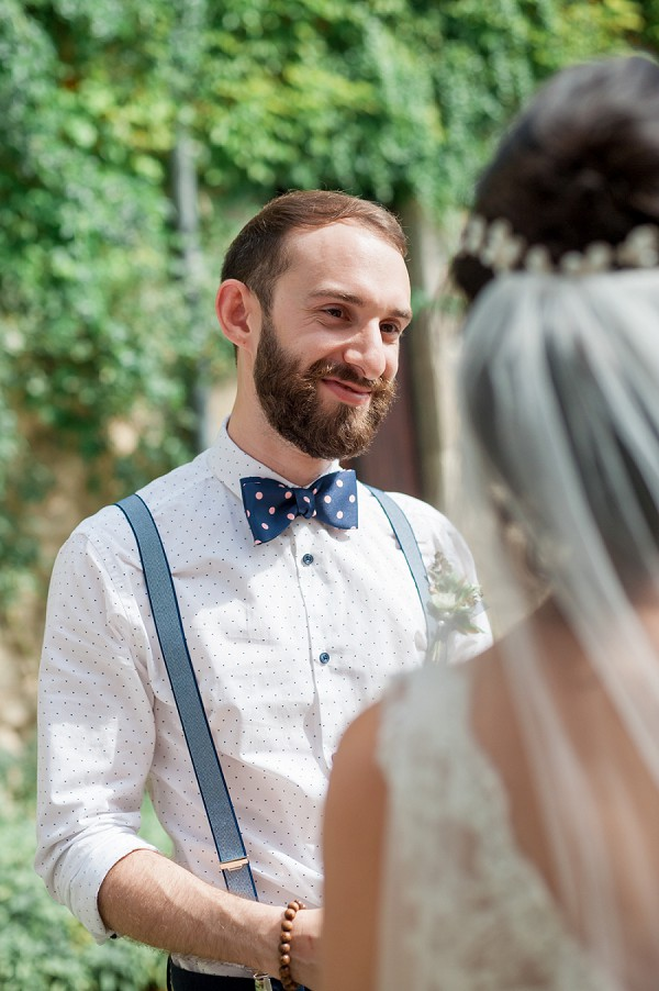 Groom Polka dot Bow tie
