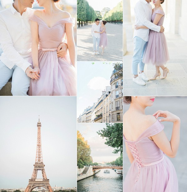 Romantic Love Story Engagement Session Paris Snapshot