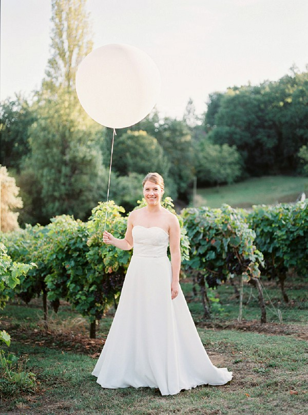 Wedding balloon bride