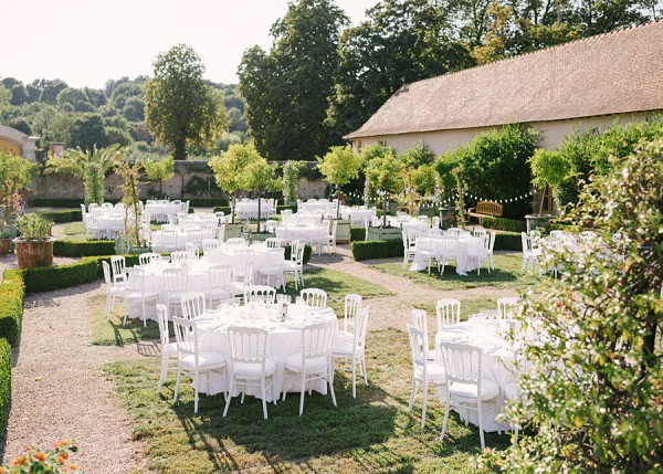 White Theme French Wedding