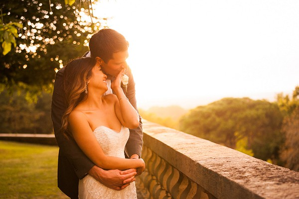 golden hour wedding portraits