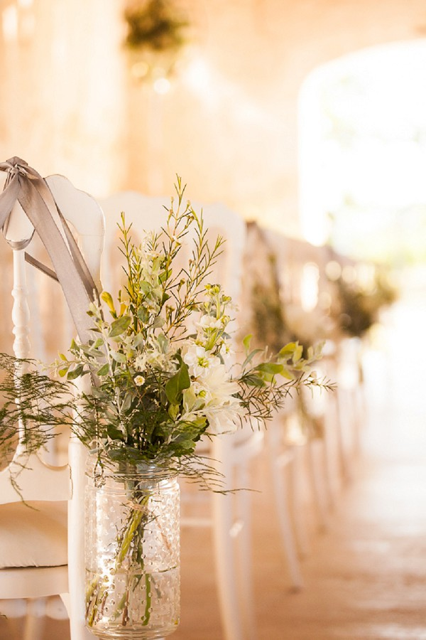 rustic ceremony flowers
