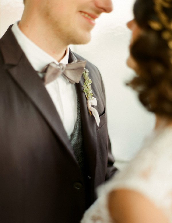 Bow tie groom chic