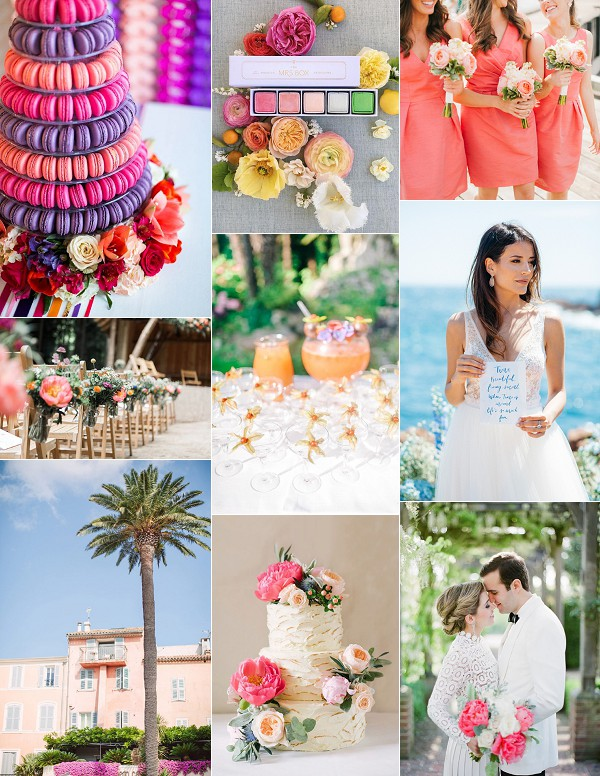 Bright St Tropez Wedding Inspiration Board