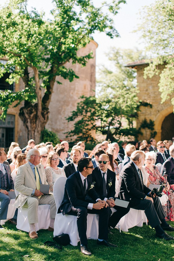French outdoor wedding ceremony