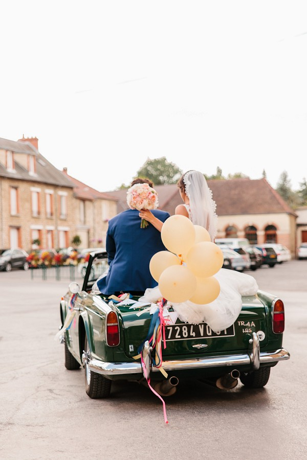 French vintage wedding car