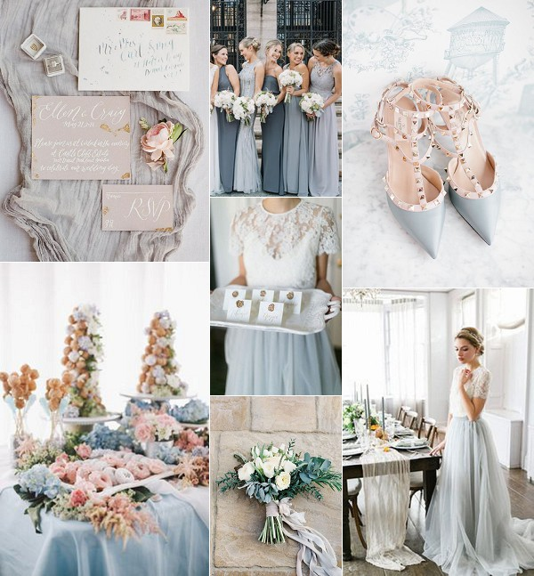 Grey French Chic Wedding Inspiration Board